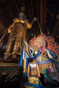 Next door to the mandala making was this very tall Buddha.
