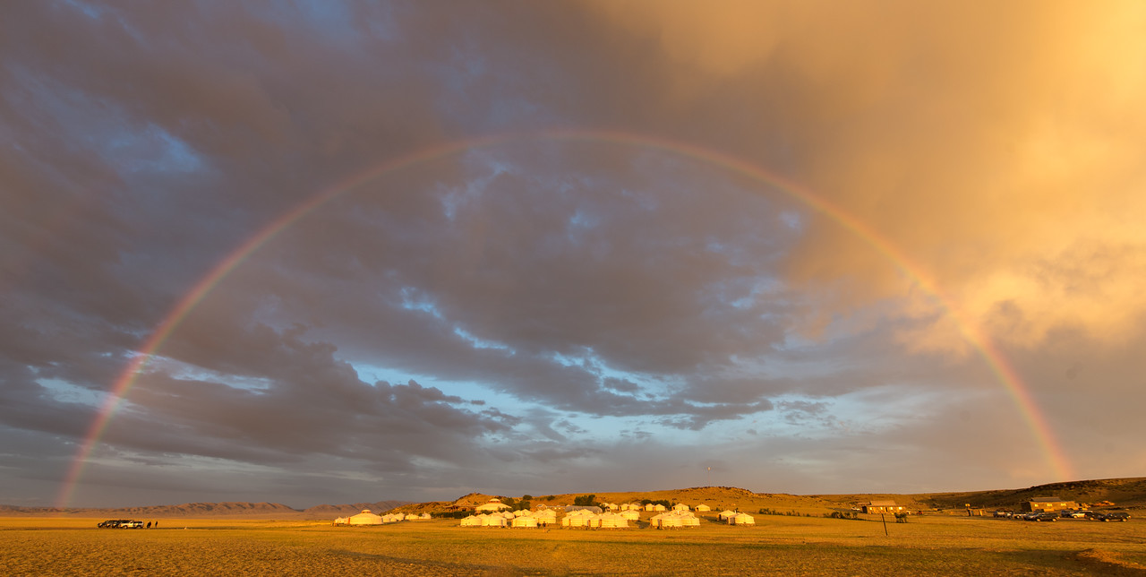 Rainbow over Three Camels
