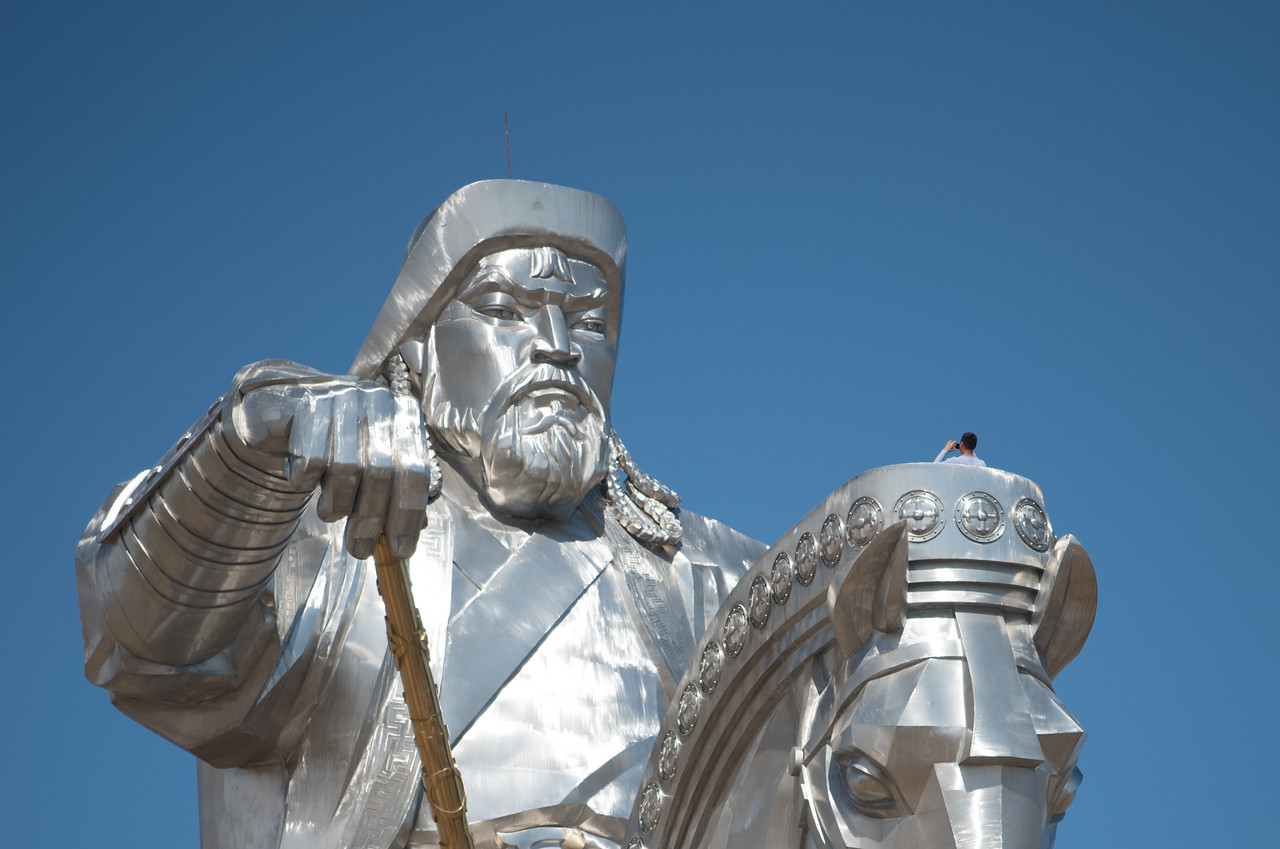 Giant Chingis Khan statue.  I stood on the horse head and yelled,