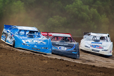 Hudson O'Neal (71), Scott Bloomquist (0) and Steve Casebolt (C9)