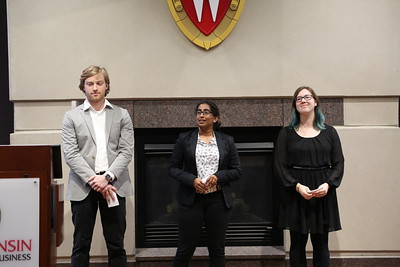 John P. Drescher, Sruthi Suresan and Brittany Graham presenting NO EXIT