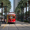 Catching the trolly on Canal Street