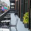 The balcony of Muriel's Jackson Square restaurant