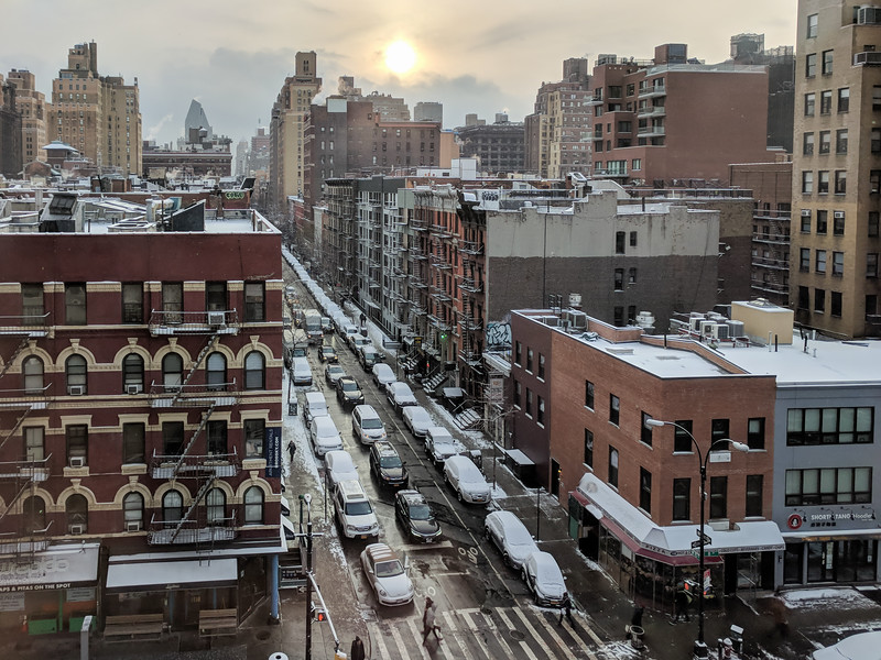 New York in the snow, W 15th St. & 8th Ave.