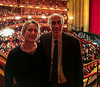 Chantal and Richard at the Metropolitan Opera, about to see Der Rosenkavalier, with Renée Fleming in her penultimate performance as Die Marschallin