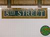8th Street subway tiles and mosaic