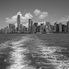 Manhatten skyline from the ferry on the way to Ellis Island