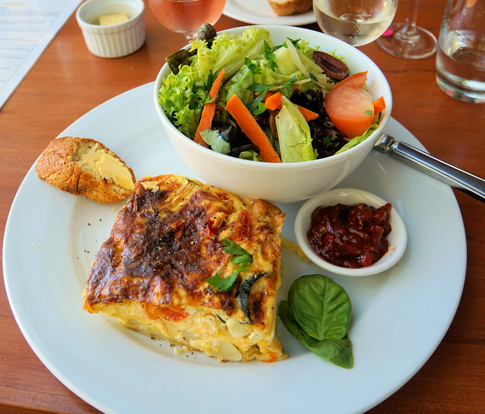 Anne'/ salmon quiche at Hunter's Vineyard Cafe