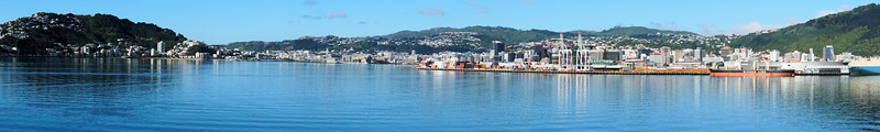 Panorama of Wellington harbor front