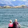 Couple enjoying Lake Wanaka