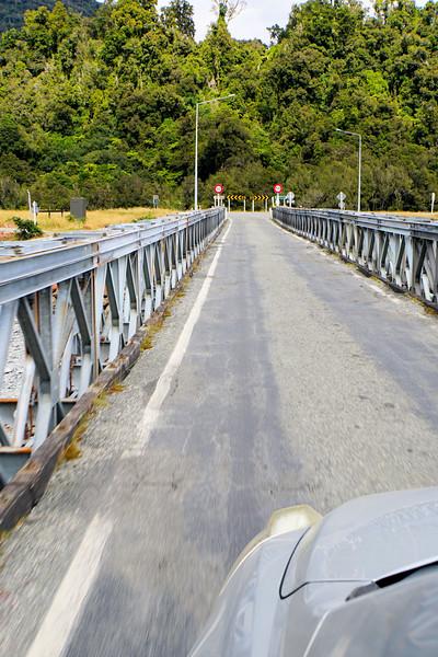 One lane bridge on Highway 6