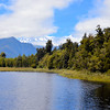 Mount Hood and Mount Tasman from the shore of Lake Mathison