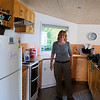 Anne in the kitchen at the Queenstown Bach
