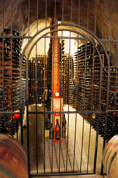 Bottles of 2000 Pinot Noir in Gibbston Valley Wine Cave