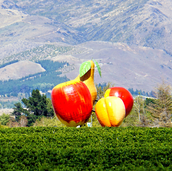 Cromwell giant fruit sculpture