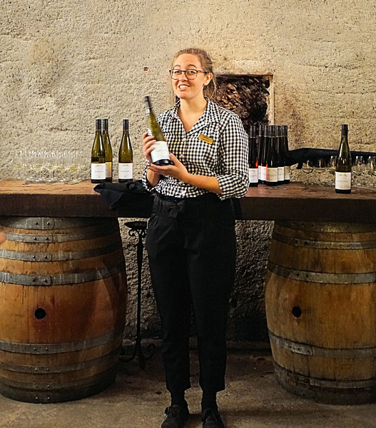 Wine tasting in the cave at Gibbston Valley Winery