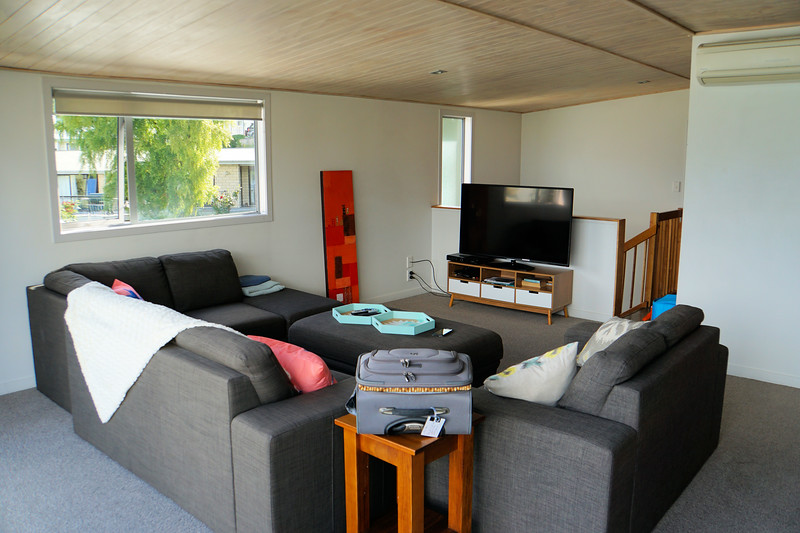 Queenstown Bach living room