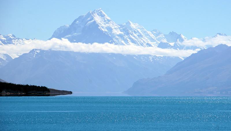 Mount Cook towering above Lake Pukaki