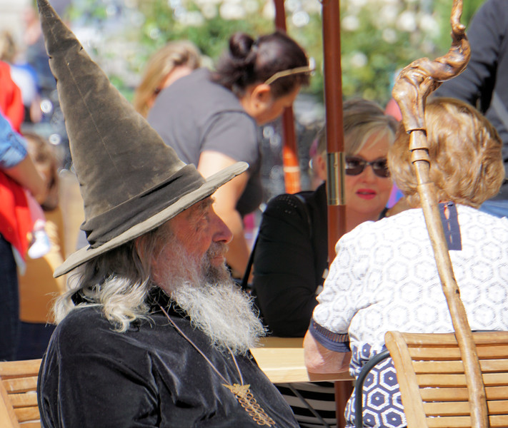 A wizard having coffee in Christchurch