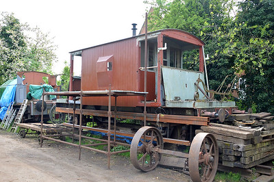 Unknown Brakevan in Yaxham Station Yard.