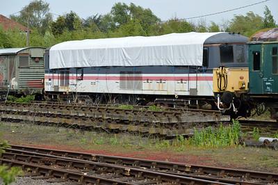 Class 73 73210 at Dereham MNR.