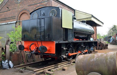 0-6-0ST 68012 at Yaxham Station Yard