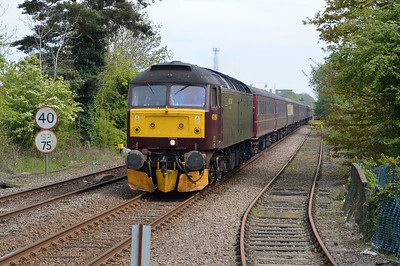 47854 tnt 47580 1151/5z79 Norwich-Hellifield Goods Loop passes Wymondham.