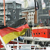 German flag in Hamburg port