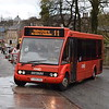Rosso Optare Solo YJ05JWK in Rawtenstall on the 11 to Helmshore, 18.11.17.