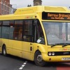 Cumfybus hybrid Optare Solo YJ12GXF at Bolton Interchange on the 526 to Barrow Bridge, 18.11.17.