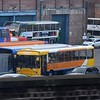 Stagecoach driver training Volvo B10M Alexander PS R982XVM 20982 at the Manchester Ardwick depot, 18.11.17.