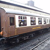 "Pullman liveried Mark I carriage no. M4784 ""Borough of Rawtenstall"" at Bury Bolton Street on the East Lancs Railway, 18.11.17."