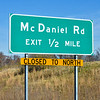 MET 112717 McDaniel Road Sign