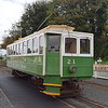 Manx Electric Railway G.F. Milnes & Co. Winter Saloon no. 21 at the temporary Ramsey station, 14.10.17.