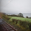 Riding the Manx Electric Railway along the coast near Laxey, 14.10.17.