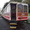 Manx Electric Railway G.F. Milnes & Co. Winter Saloon no. 20 at the temporary Ramsey station, 14.10.17.