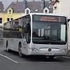 Bus Vannin Mercedes Citaro KMN202L 202 at Ramsey bus station on the 3 to Douglas, 14.10.17.
