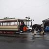 Douglas Bay Horse Tramway G.F. Milnes & Co., Ltd. enclosed saloon tram no. 29 leaving the Derby Castle terminus, 14.10.17.