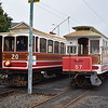 Manx Electric Railway G.F. Milnes & Co. Winter Saloon no. 20  and Winter Trailer no. 57 at the temporary Ramsey terminus, 14.10.17.