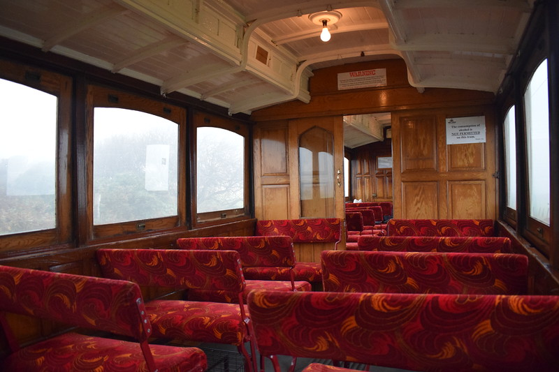 Manx Electric Railway G.F. Milnes & Co. Winter Saloon no. 20 interior between Laxey and Ramsey, 14.10.17.
