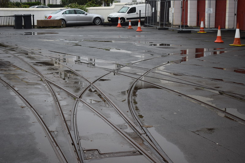 Tracks at the Douglas Bay Horse Tramway depot at Derby Castle, 14.10.17.