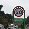 """One of the Isle of Man's many """"home zone"""" signs near Ramsey bus station, 14.10.17."""
