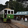 Manx Electric Railway G.F. Milnes & Co. Winter Saloon no. 21 at Laxey station, 14.10.17.