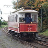 Manx Electric Railway Electric Railway & Tramway Carriage Co., Ltd. Winter Trailer no. 57 shunting under gravity at the temporary Ramsey station, 14.10.17.