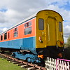 Experimental tilting coach no. 60750 / RDB 975386 'Hastings' (ex Class 201) at the Electric Railway Museum, Coventry.