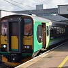 London Midland Class 153 Sprinters nos. 153366 and 153375 at Coventry on Nuneaton shuttles, 08.10.17.