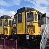 """Class 309 """"Clacton"""" EMUs no. 309616 (960101) and 309624 (960102) at the Electric Railway Museum, Coventry."""