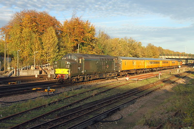 37057 Basingstoke 25/10/17 1Q53 Eastleigh to Eastleigh with 37116 on the rear
