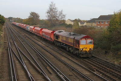 66056 Worting Junction 31/10/17 6Z60 Acton to Eastleigh