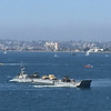 Lots of military ships in the waters of San Diego.